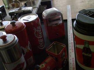 Coca Cola collection   Tin   bank   cooler   more