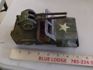 old Army toy jeep