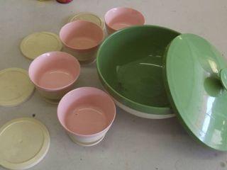 muramic serving bowl and bowls