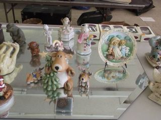 Christmas items and trinket boxes