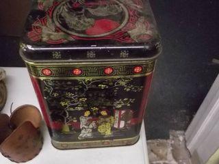 leather cup holder   oriental storage box