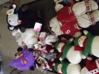 lot of plush animals