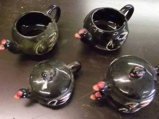 black bird sugar   cream and cups