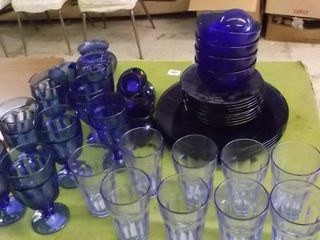 cobalt blue glass wear