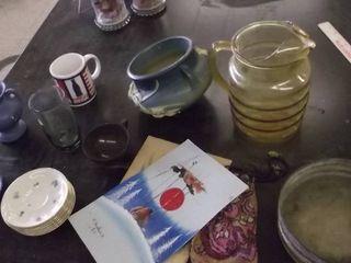 pitcher   vase   plates