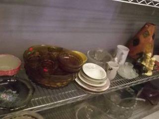 glass bowls set   pitcher   large vase   more