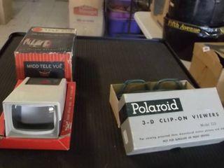 Mico Tele vue and Polaroid 3D glasses