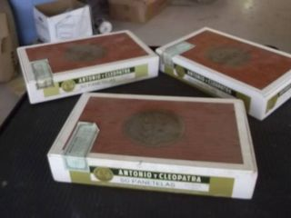 3 cigar boxes