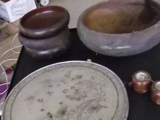 serving bowl and plate
