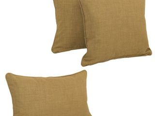 Blazing Needles  Set Of 3 Outdoor Pillows  Note Color Difference Cream