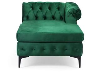 Burland Chaise lounge by Christopher Knight Home  Emerald Green