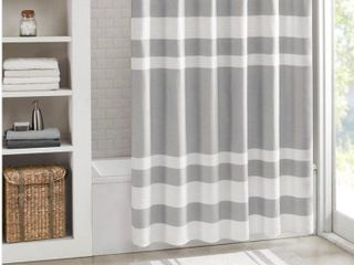 Madison Park Spa Waffle Shower Curtain 72x84  In Grey