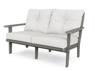 Polywood lakeside Deep Seating loveseat in Grey Retail   589 00   Cushions Not Included