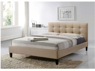 luXeo Hermosa Tufted Upholstered Platform Contemporary Bed No Headboard    Retail 524 99