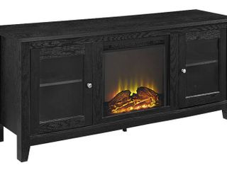 Walker Edison Traditional Black Fireplace TV Stand  Retail 284 99