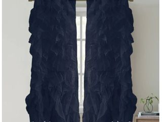 Sweet Home Collection  Waterfall Ruffled  63  x 50  Pair of Panels