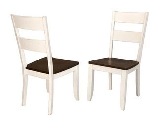 Simply Solid Cache Solid Wood Dining Chairs  Set of 2  Retail 242 49