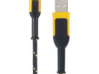 Dewalt Reinforced Braided Cable for Micro USB  10 ft