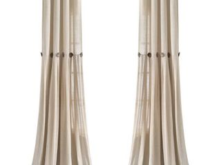 lush Decor linen Button Panel Pair Window Curtains 40  x 84