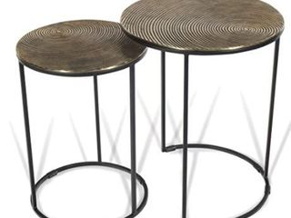 Vertuu Design  Metal Accent Tables Osiris