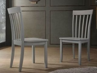 Slat Back Dining Chairs  Set of 2   Minor Damage  See Pictures  Retail 100 00