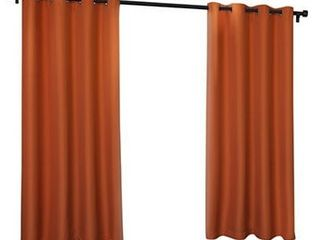 ATI Home Indoor Outdoor Solid Cabana Grommet Top Curtain Panel Pair 54  x 84