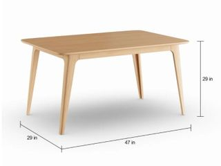 Incomplete Table legs Only  Carson Carrington Ballerup Wood Rectangular Dining Table   Retail 493 49