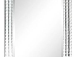 Bling Beveled Glass Rectangle Wall Mirror  30 in  x 1 24 in  x 40 in  Retail 223 58