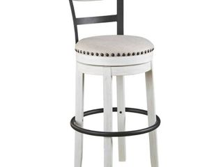 Valebeck Bar Height Swivel Barstool   White   Retail 157 49