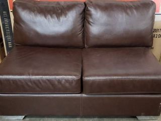 Incomplete Item  Mitchell Modern Premium Top Grain Italian leather Sectional Sofa  Retail 4196 49
