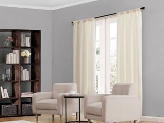 84 x42  Kendall Thermaback Blackout Curtain Panels Ivory   Eclipse