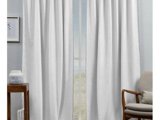 Exclusive Home Curtains Marabel lined Blackout Hidden Tab Top Curtain Panel Pair  54x96  White Grey  Set of 2