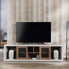 Furniture of America leas Industrial 70 inch Cement like TV Stand  Retail 382 49 distressed walnut as is