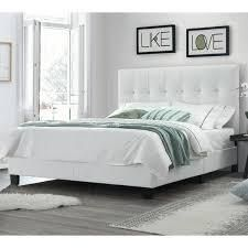 dg casa bianca queen size bed headboard and footboard and side rails white as is