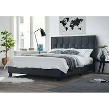 Titan Queen Platform Bed  Retail 433 49 pu black