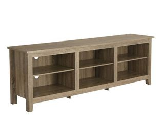 Walker Edison Wood TV Media Storage Stand only for TVs up to 78    Driftwood as is