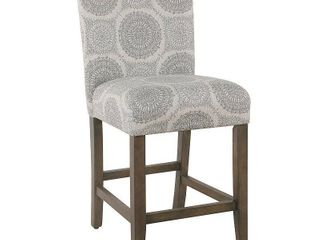 Homepop 24  Parsons Counter Stool   Gray Medallion  Retail 151 99