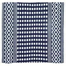 luxurious Cotton Hand Woven Floor  Kitchen Mat 18  x 30  With Foam Backing   18x30