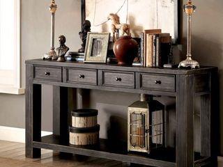 Furniture of America Cosbin Bold Antique Black 4 drawer Sofa Table   Retail 461 00