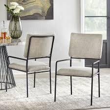 lifestorey Indra dining chairs set of 2 cream pr