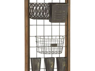 Metal Wood Wall Storage For Home Decor   Brown  Retail 89 49