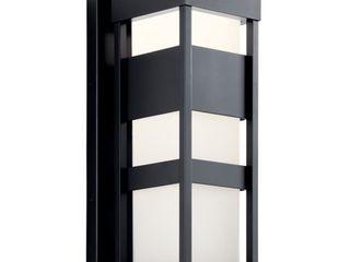 Kichler lighting Ryler Outdoor lED Wall light Black  Retail 279 99