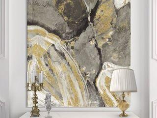 Designart  Glam Phoenix Neutral  Modern Glam Premium Canvas Wall Art   Grey  Retail 103 99