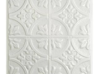 Great lakes Tin Jamestown Gloss White 2 foot x 2 foot lay in Ceiling Tile  Carton of 5  Retail 101 49