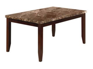 Gracious Dining Table only with Marble Top  Brown  Retail 483 49
