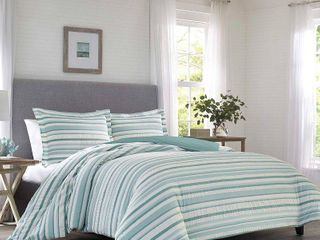 Relax by Tommy Bahama Clearwater Cay Blue Duvet Cover Set  Retail 105 06