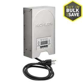 Kichler 200 Watt 120 Volt Multi Tap landscape lighting Transformer with with Digital Timer
