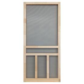 Screen Tight Creekside Natural Wood Hinged Screen Door  Common  32 in x 80 in  Actual  32 in x 80 in