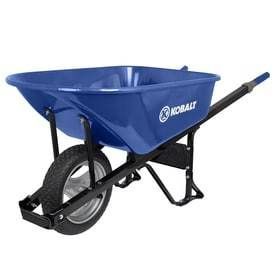Kobalt 6 cu ft Steel Wheelbarrow with Flat Free Tire