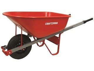 CRAFTSMAN 6 cu ft Steel Wheelbarrow
